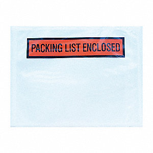 Packing List Envelope,6x4-1/2In,PK250