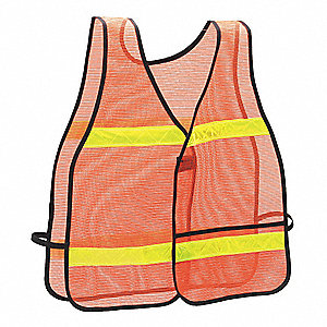 Safety Vest,Universal,Orange,Class 1