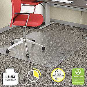Traditional Lip Chair Mat Clear For Carpet With Padding Up To 1 4 Thick