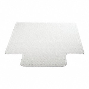 "Traditional Lip Chair Mat, Clear, For Carpet with Padding Up to 3/4"" Thick"