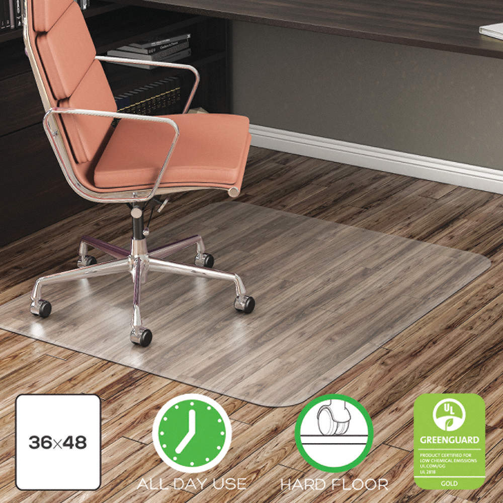 Grainger Approved Rectangular Chair Mat Clear For Laminate Wood
