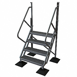 4 Step,50 Degree Incline Ladder,40in.H