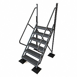 6 Step,50 Degree Incline Ladder,60in.H