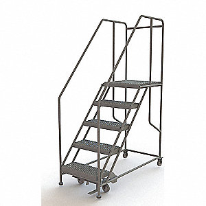 Rolling Work Platform,Steel,5 Steps