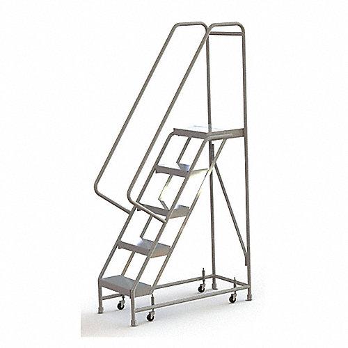 Tri arc escalera rodante 5 pelda os aluminio escaleras for Escalera aluminio 5 peldanos