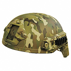 "Multicam Level IIIA Combat Helmet, Shell Material: Aramid, Pad Thickness: 1/2"", Fits Hat Size: X-Lar"