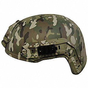 "Multicam Level IIIA Special Ops Helmet, Shell Material: Aramid, Pad Thickness: 1/4"", Fits Hat Size:"