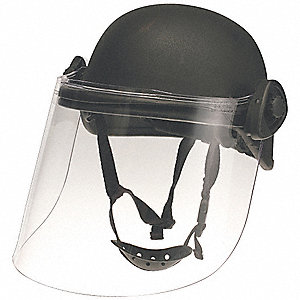 Black Level IIIA Lightweight Helmet w/ Paulson Face Shield, Shell Material: Aramid, Fits Hat Size: M