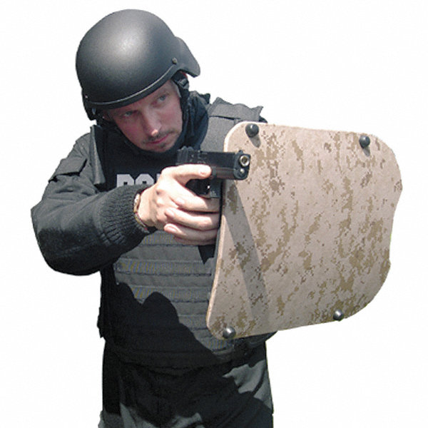 """Safety Face Shield >> UNITED SHIELD Curved Military Combat Shield, Protection Level IIIA, 14"""" Height, 16"""" Width ..."""