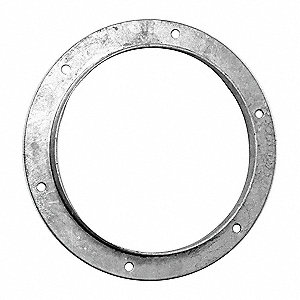 "Galvanized Steel Angle Flange, 12"" Duct Fitting Diameter, 1-1/2"" Duct Fitting Length"