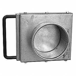 "NFMES Manual Blastgate, 6"" dia, Steel"