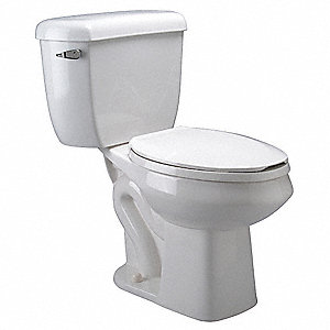 EcoVantage Two Piece Tank Toilet, 1.0/1.6 Gallons per Flush, White