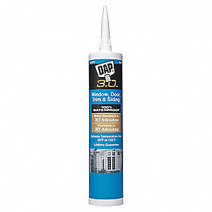 White Caulk, Acrylic, 9.0 oz. Cartridge