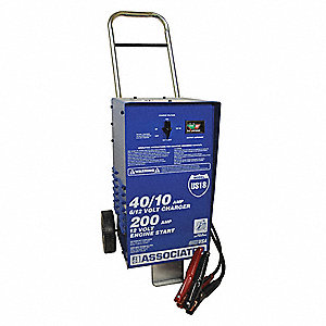 Battery Charger/Starter,40/40/10A,120VAC