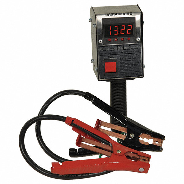 Associated Battery Tester : Associated equip battery load tester digital amps