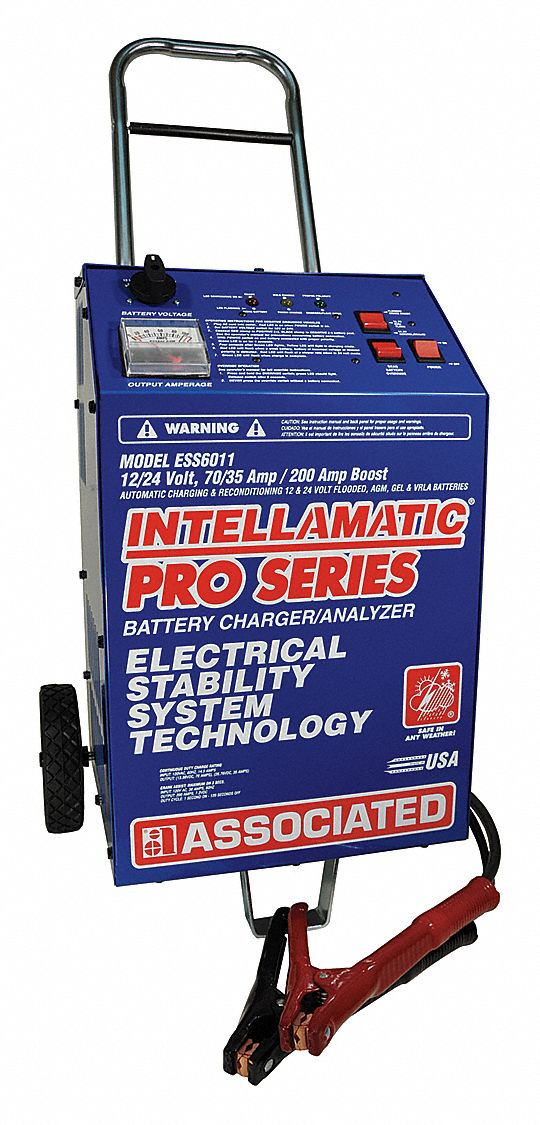 Automatic Battery Charger and Starter,  Boosting, Charging, Maintaining