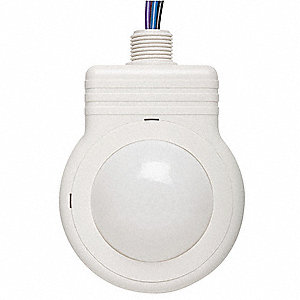 Fixture Mount Hard Wired Occupancy Sensor, 5500 sq. ft. Passive Infrared, White