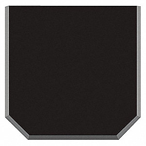 Urinal Mat, Black, Hydrotect Tile, 2 ft. x 2 ft., 1 EA