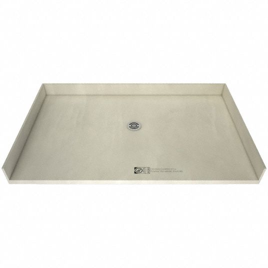 tile redi polyurethane barrier free threshold style 60 in x 37 in rectangle