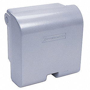 Vertical-Mount While In Use Weatherproof Cover, 2-Gang, Die-Cast Aluminum