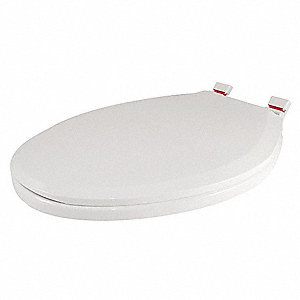 "Slow Close/Lift and Clean Toilet Seat, Elongated, With Cover, 18-1/2"" Bolt to Seat Front"