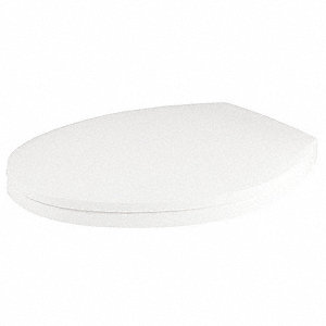 "Toilet Seat, Elongated, With Cover, 19"" Bolt to Seat Front"