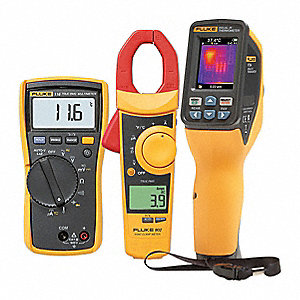 Infrared Thermometer Kit, 14° to 482°F Temp. Range (F), Includes: Hard Case, Micro SD Card, Micro SD