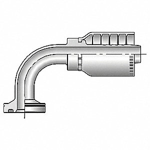 "Fl Fitting,Crimp,1-1/2"" Hose,1-1/2"" Fl"