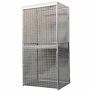 "Bulk Storage Locker Starter, Openings: 2, Shelves: 1, 48""W X 36""D X 90""H"
