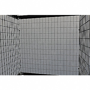 Wire Mesh Top Locker,Platinum