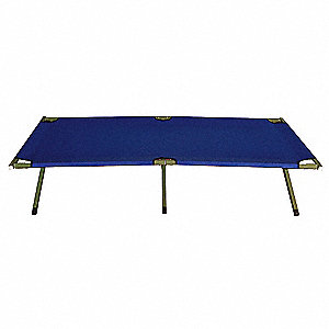 "74-1/2"" x 25-1/4"" Kwik Cot with 225 lb. Weight Capacity; Blue"