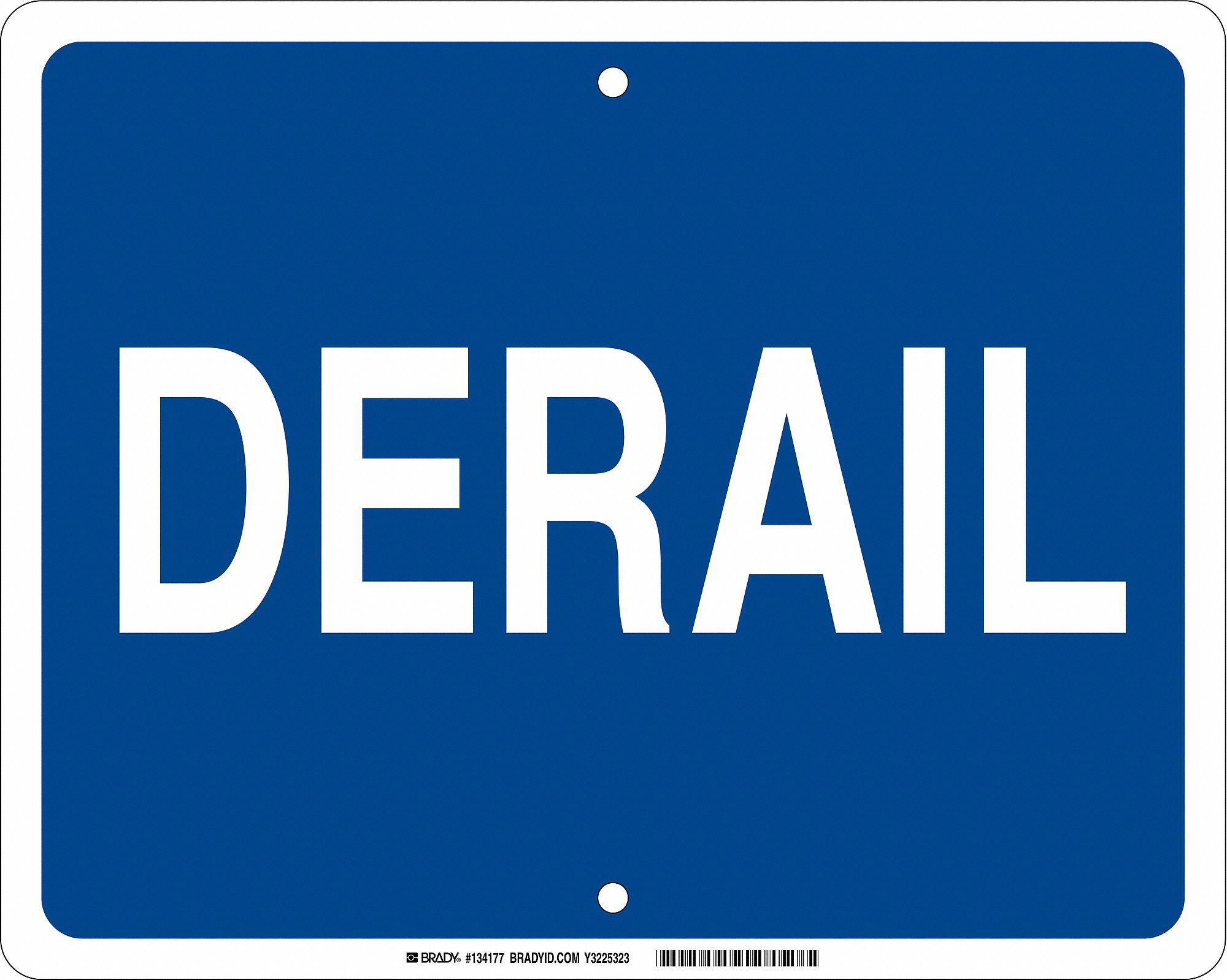 Railroad Blue Flag Signs