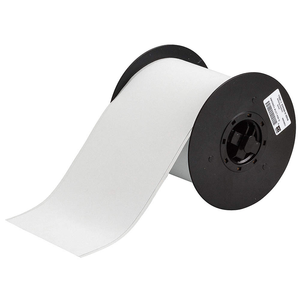 Indoor/Outdoor B-854 Metal Detectable Polyester Film with Acrylic Adhesive  Tape, White, 4