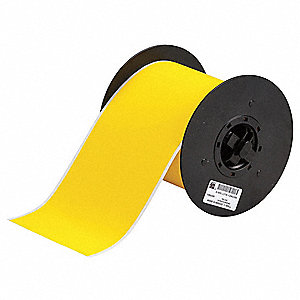 "Indoor/Outdoor B-855 Polyester Film with Acrylic Adhesive Tape, Yellow, 4""W x 50 ft."