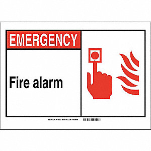 Safety Sign,7in.Hx10in.W