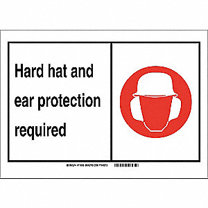 "Personal Protection, No Header, Vinyl, 10"" x 14"", Adhesive Surface, Not Retroreflective"