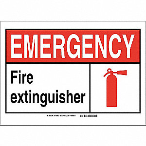 Safety Sign,10in.Hx14in.W,Plastic