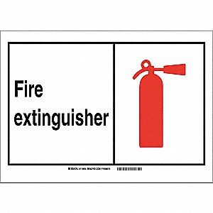 Emergency Sign,14in.Hx10in.W,Vinyl