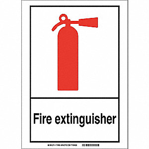 Emergency Sign,10in.Hx14in.W,Aluminum