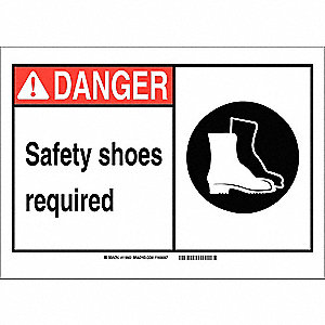 Danger Sign,10in.Hx14in.W,Vinyl