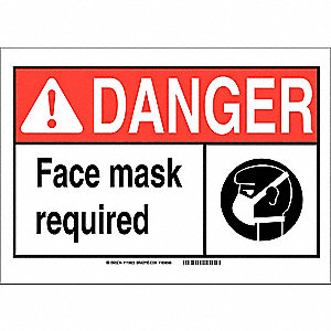 Danger Sign,10in.Hx14in.W,Aluminum