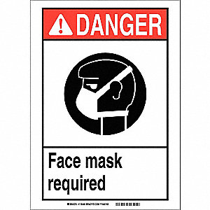 Danger Sign,14in.Hx10in.W,Sticking Poly