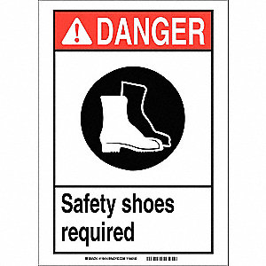 "Personal Protection, Danger, Vinyl, 5"" x 7"", Adhesive Surface, Not Retroreflective"
