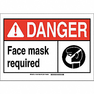Danger Sign,10in.Hx14in.W,Glow Plastic