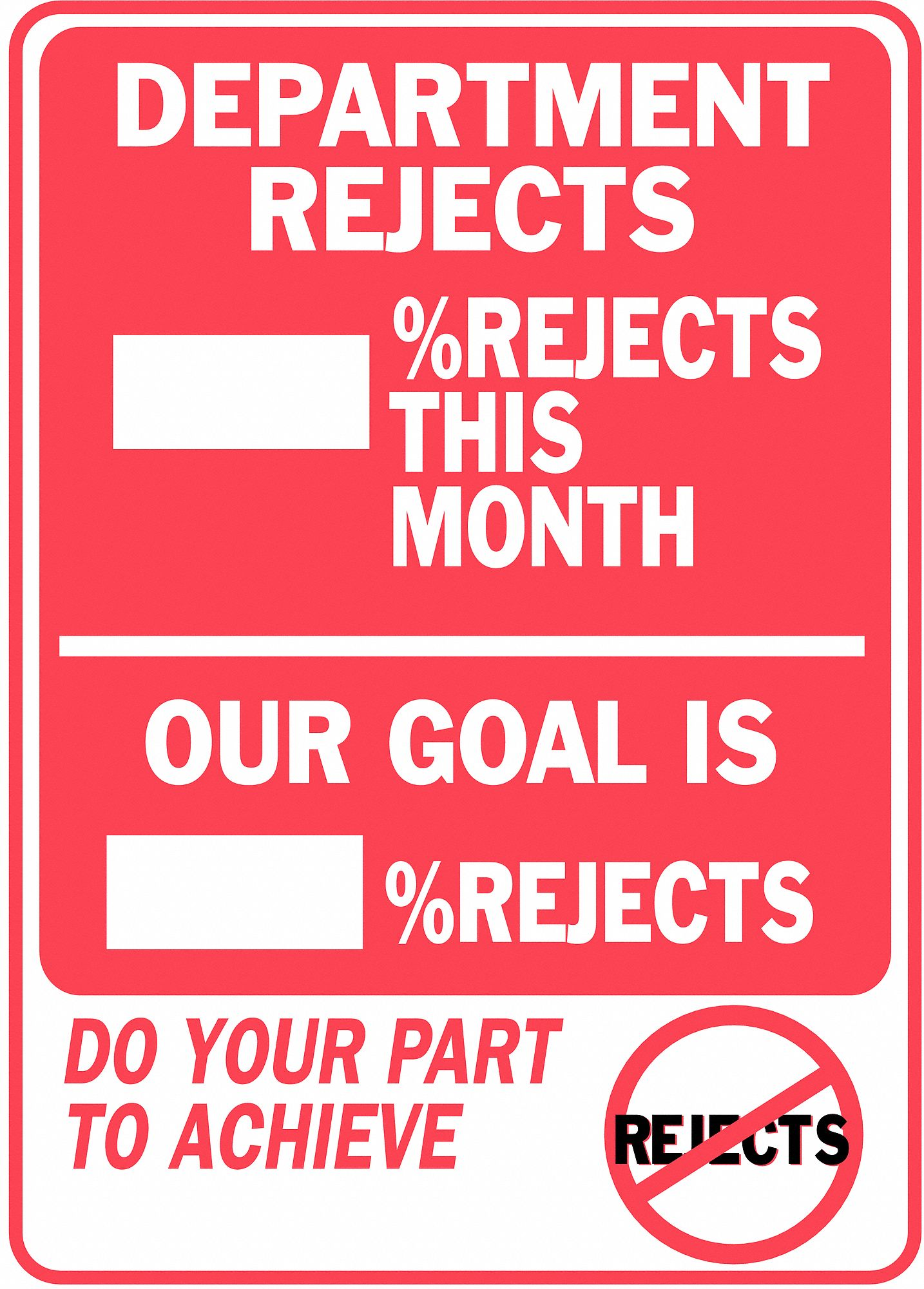 Safety Record Signs