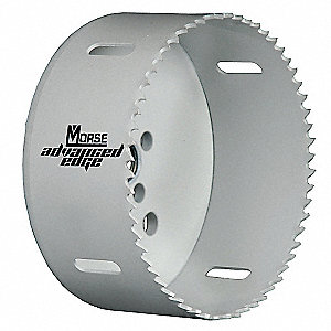 "MORSE 100mm-Dia. Hole Saw for Metal, 1-1/2"" Max. Cutting Depth, 5 Teeth per Inch - 29UN69