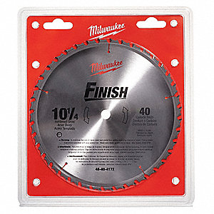 "10-1/4"" Carbide Combination Circular Saw Blade, Number of Teeth: 40"
