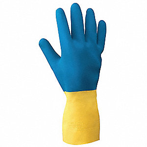 Chemical Resistant Gloves,NeoPRene,M,PR