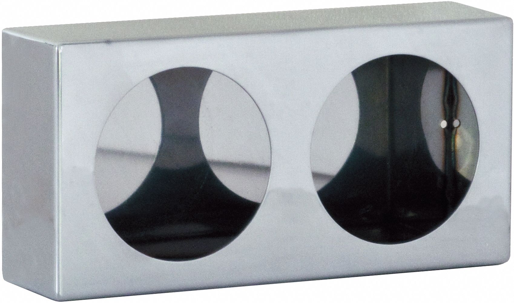 BUYERS PRODUCTS LB6183ALDT Triple Round Light Box,6x18x3 In.,Alum