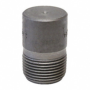 "Round Head Plug, MNPT, 1/2"" Pipe Size - Pipe Fitting"